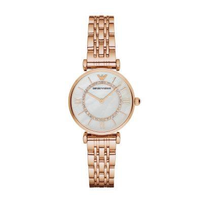 Emporio Armani orologio in acciaio inox oro rosa