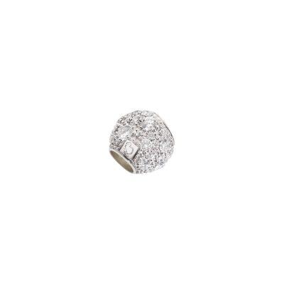 Dodo pepita in oro bianco con diamanti bianchi