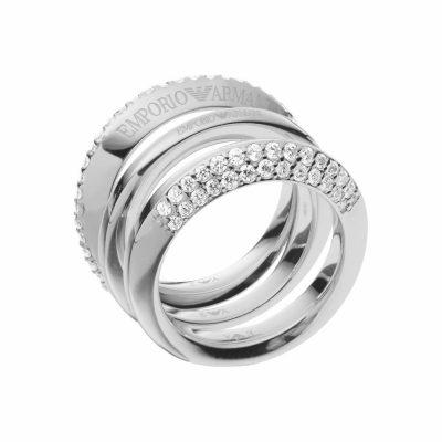 Emporio Armani anello da donna in acciaio