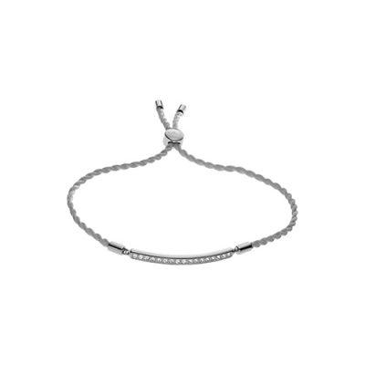 Emporio Armani bracciale donna con cordino grigio