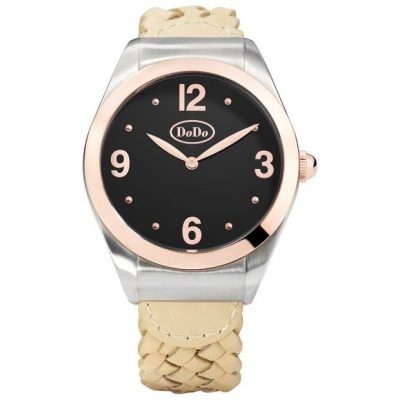 Dodo black and rose watch