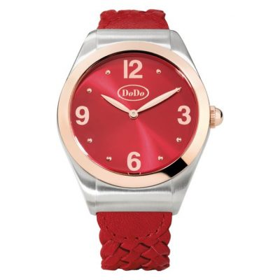 Dodo cherry red watch