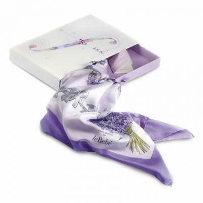 leBebé foulard di twill seta lilla