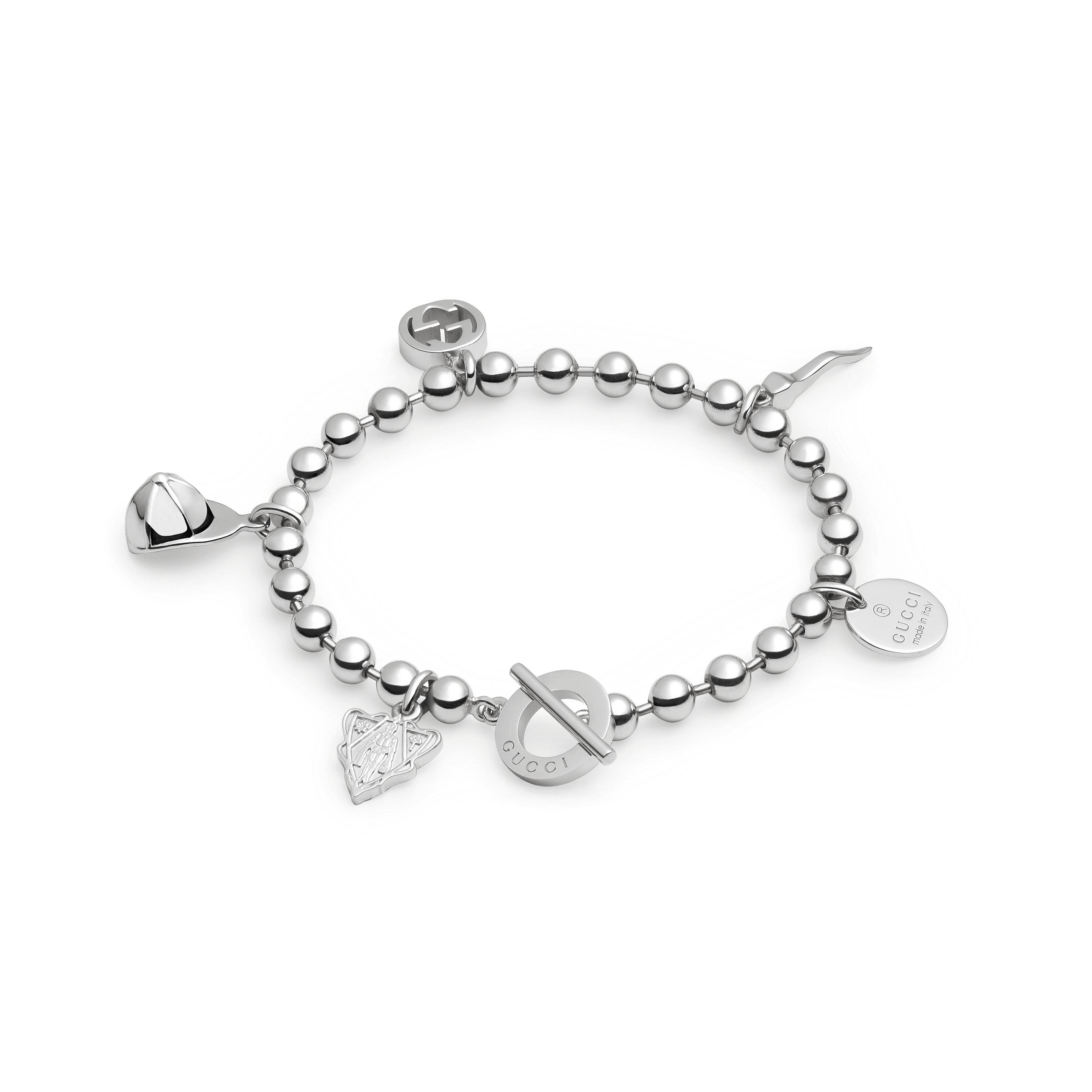 economico per lo sconto 23a6f ccbea Gucci bracciale boule con ciondoli in argento