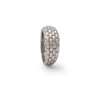 Fope anello in oro bianco con lavorazione maglia classica