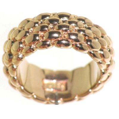 Fope anello largo in oro rosa