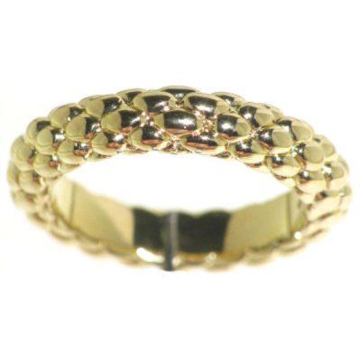 Fope anello stretto in oro giallo