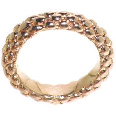 Fope anello sottile in oro rosa