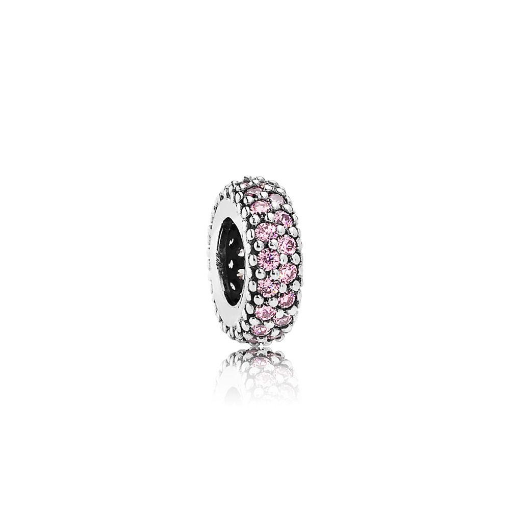 charm pandora pietra rosa