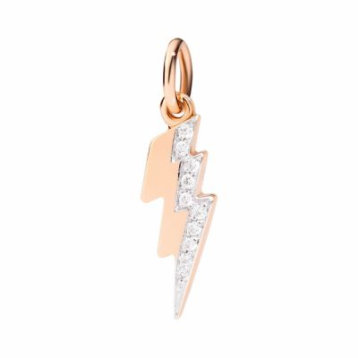 Dodo fulmine in oro rosa con diamanti