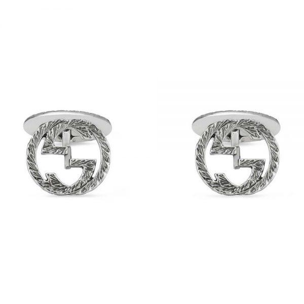Gucci gemelli Interlocking in argento doppia G