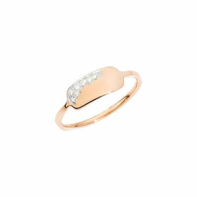 Dodo anello precious tag in oro rosa