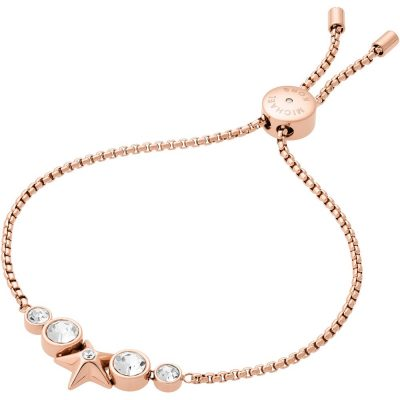 Michael Kors bracciale Brilliance colore rose gold dettagli in cristallo