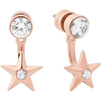 Michael Kors orecchini Brilliance colore rose gold dettagli in cristallo
