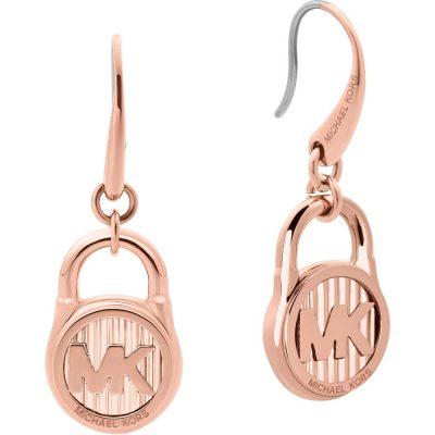 Michael Kors orecchini Logo colore rose gold