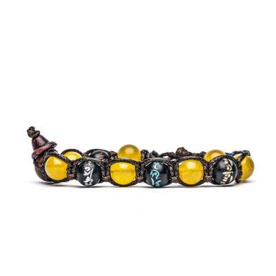 Tamashii – Bracciale Mantra Agata gialla BHS200-62