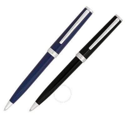 Montblanc – Set penne a sfera blu e nera Pix