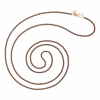Dodo – Collana in argento color marrone DCSUMAR/A/9/80/K