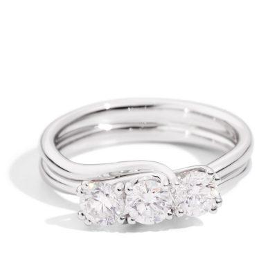 Recarlo – Anello 3 pietre in oro bianco R61TY001/B115