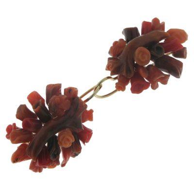 Oro di Sciacca – Orecchini monachella ramo grande OR-010