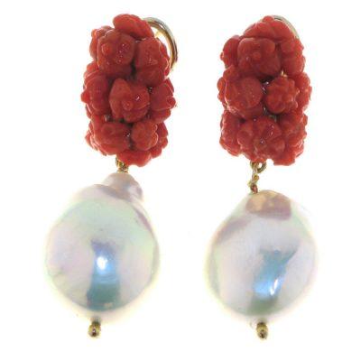 Oro di Sciacca – Orecchini clips floreale OR-1505