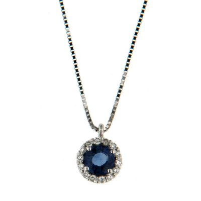 Recarlo – Collana zaffiro e diamanti P33CC244/ZB-42__