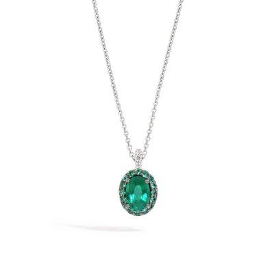 Recarlo – Collana in oro bianco e smeraldi P62CC001/SM-45