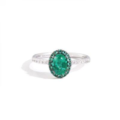 Recarlo – Anello in oro bianco e smeraldi R62CC001/SM-14_