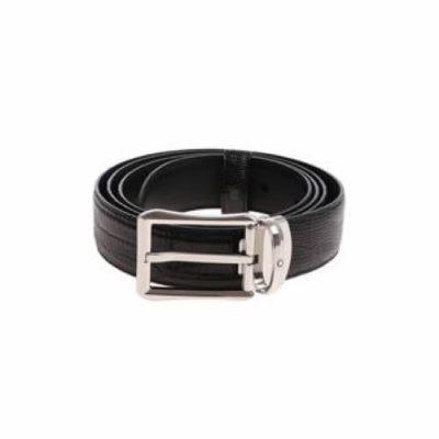 Montblanc – Cintura nera effetto pitone 118423