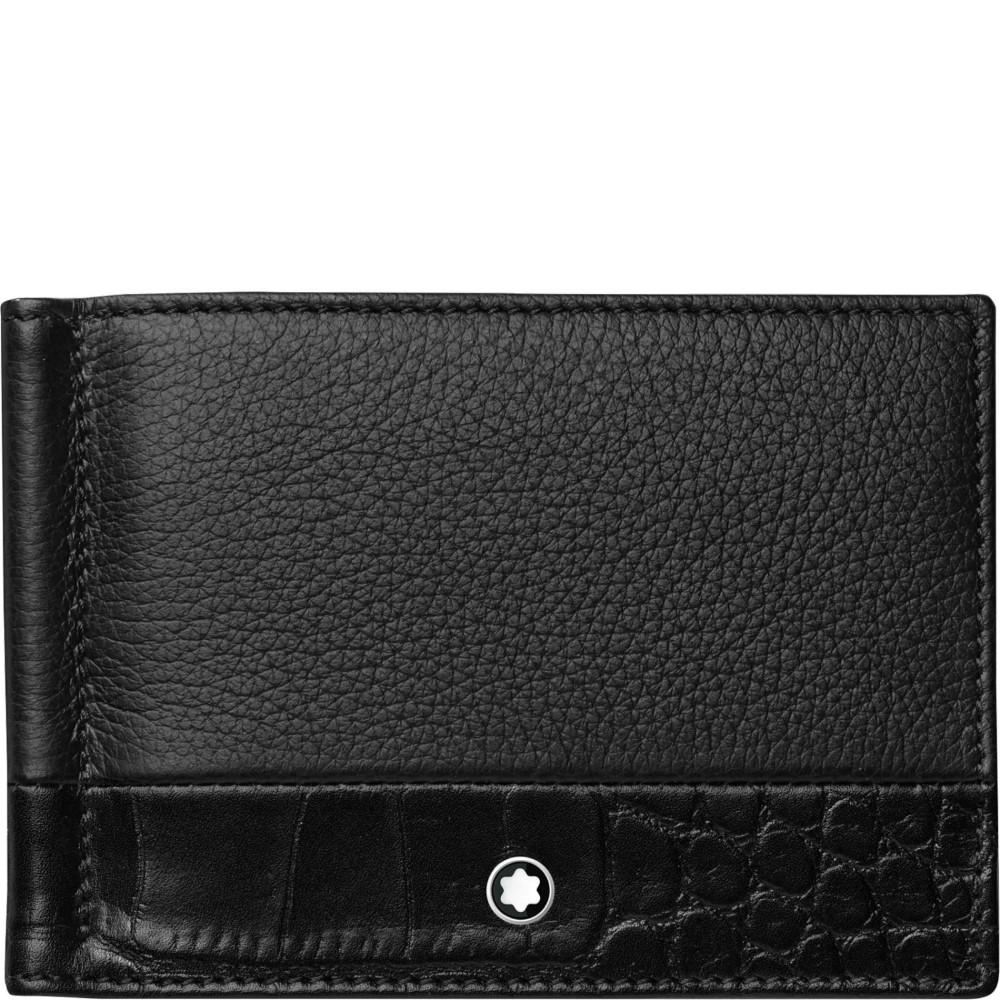 design di qualità 0596e a4fd4 Montblanc – Portafoglio 6 scomparti con fermasoldi piccolo Meisterstück  Soft Grain 118754
