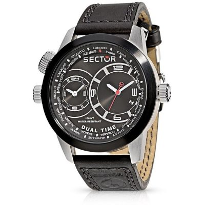 Sector – Orologio Dual Time Oversize R3251102125