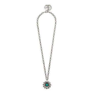 Gucci – Collana con fiore e doppia G YBB52515500100U