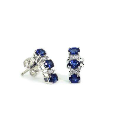 Cordaro – Orecchini con zaffiri e diamanti EG12Z