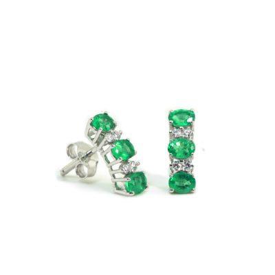 Cordaro – Orecchini con smeraldi e diamanti EG13.50S