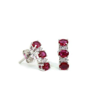 Cordaro – Orecchini con rubini e diamanti EG13R