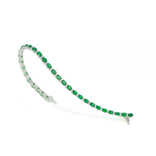 Cordaro – Tennis con smeraldi e diamanti MMC 1353