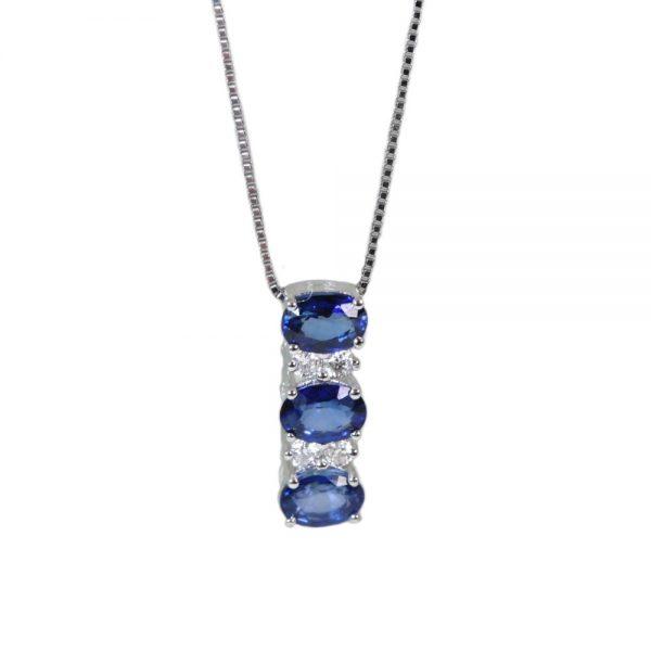 Cordaro – Collana con zaffiri e diamanti PD06Z