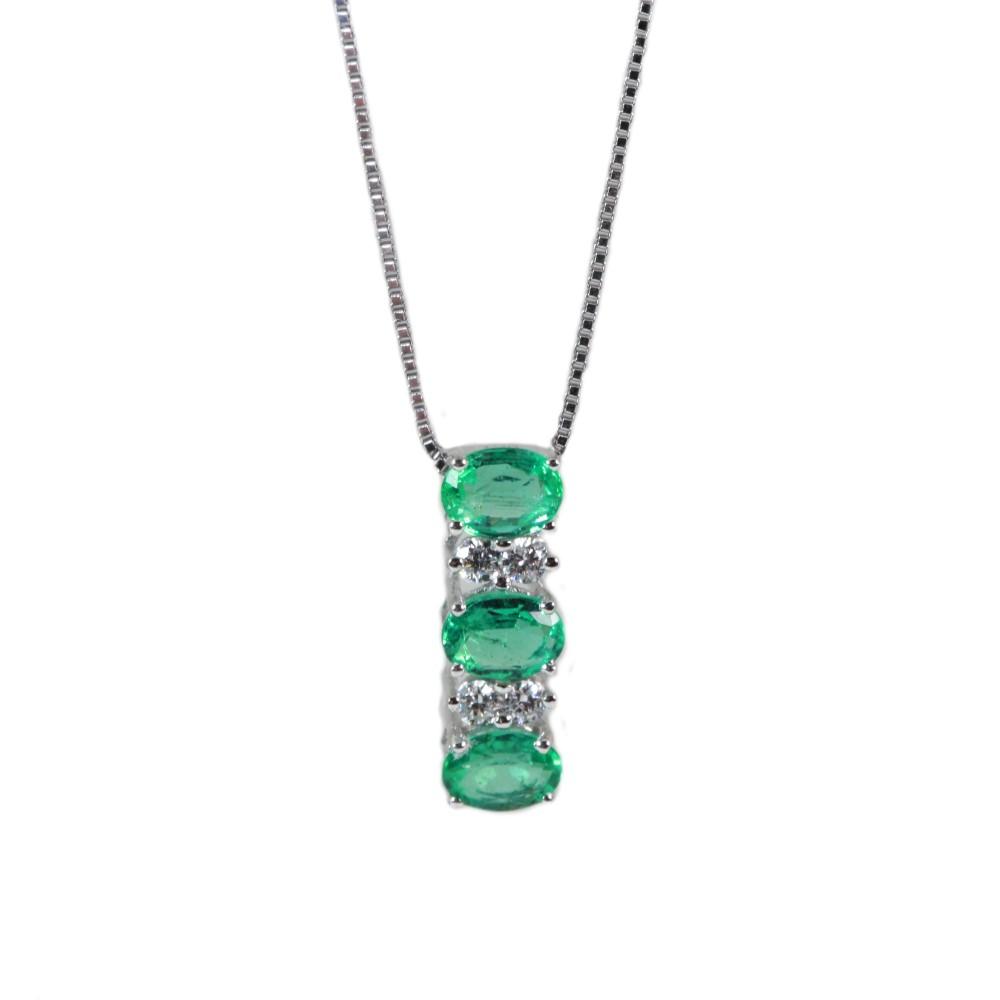 nuovo di zecca a6286 5aba7 Cordaro – Collana con smeraldi e diamanti PD07S