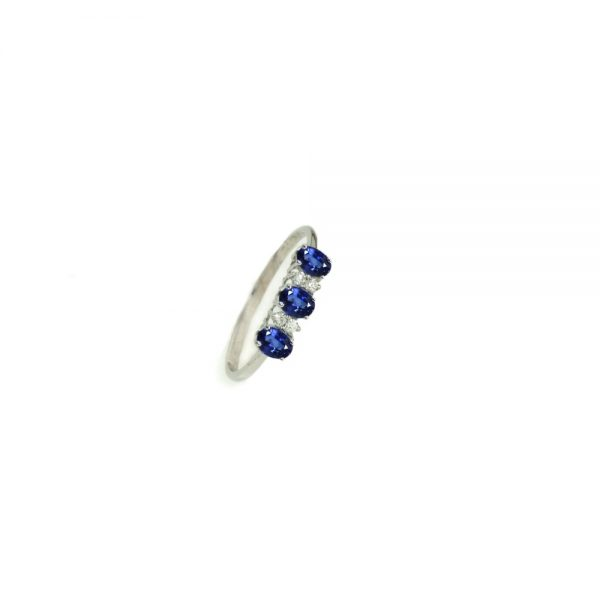 Cordaro – Anello Trilogy con zaffiri e diamanti RG10Z