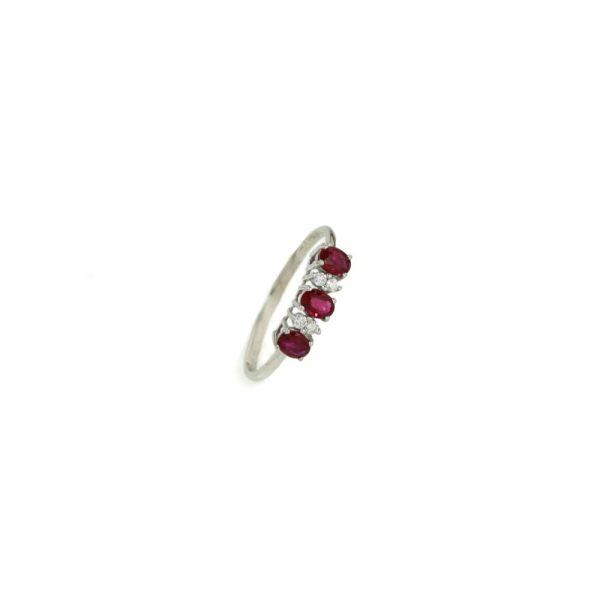 Cordaro – Anello Trilogy con rubini e diamanti RG11R
