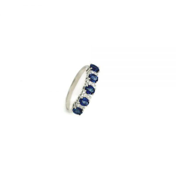 Cordaro – Anello Veretta con zaffiri e diamanti RG15Z