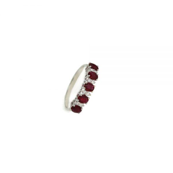 Cordaro – Anello Veretta con rubini e diamanti RG17R
