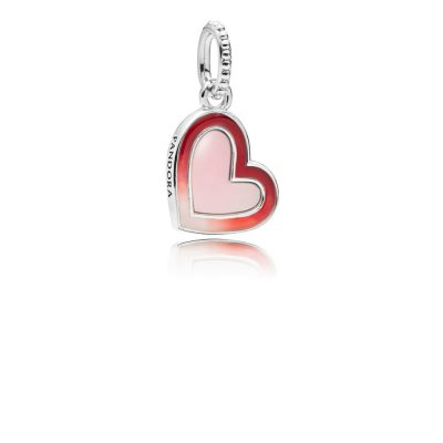 Pandora – Charm cuori d'amore asimmetrici 797820ENMX