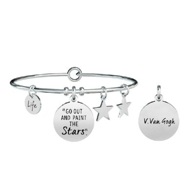 "Kidult – Bracciale Con Scritta ""Go Out And Paint The Stars"" 731505"