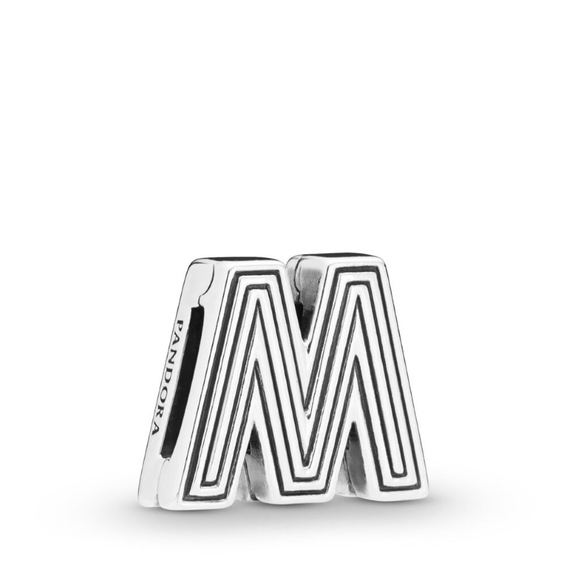 pandora charm originali lettera m