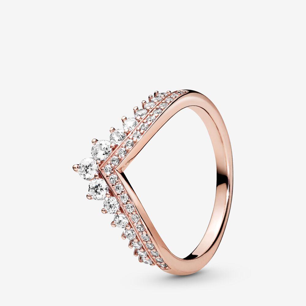 anello pandora tiara rosa