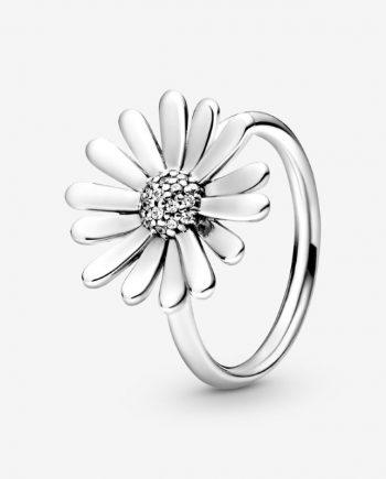 pandora anello margherita bianca
